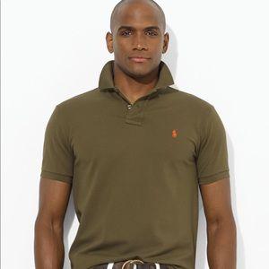 Men's Olive Green Slim Fit Ralph Lauren Polo. Sz.M